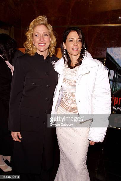 Edie Falco and Annabella Sciorra during HBO celebrates the Third Season of 'The Sopranos' at Hilton Hotel Grand Ballroom in New York NY