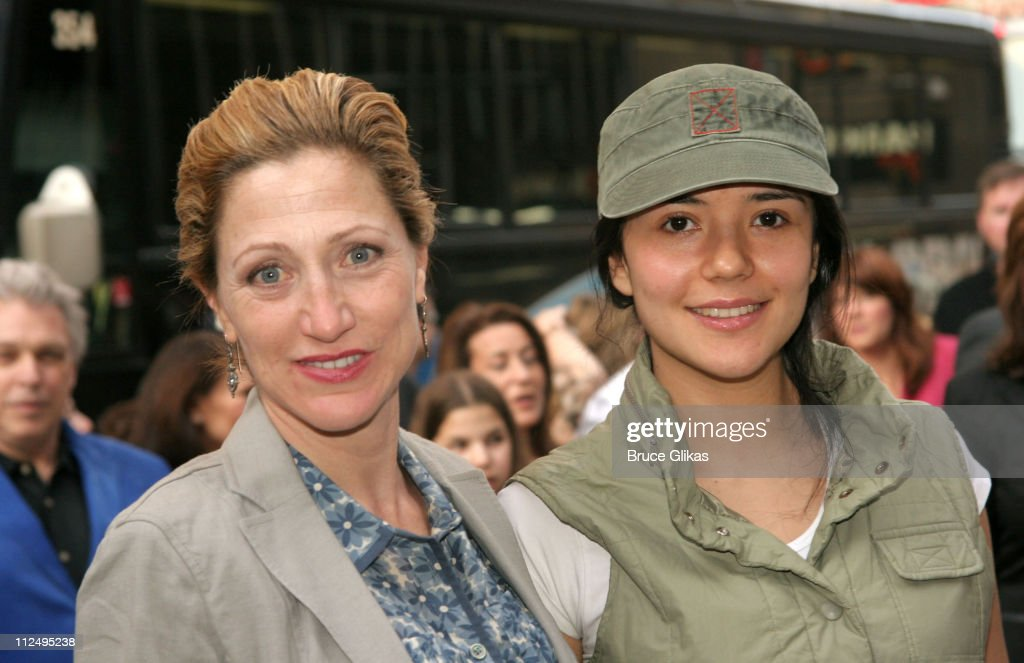 Edie Falco and Catalina Sandino Moreno during Opening Night of Martin McDonagh's 'The Pillowman' on Broadway - Arrivals at The Booth Theater in New York City, NY, United States.