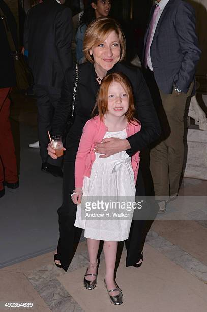 Edie Falco and daughter Macy attend the Ralph Lauren Fall 14 Children's Fashion Show in Support of Literacy at New York Public Library on May 19 2014...