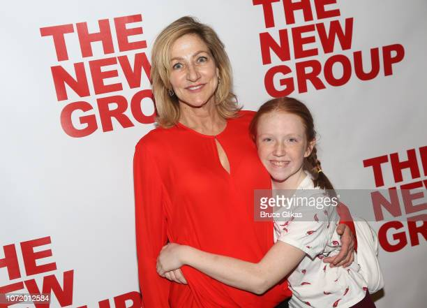 Edie Falco and daughter Macy Falco pose at the opening night after party for the new musical based on the iconic film Clueless at The Green Fig Urban...