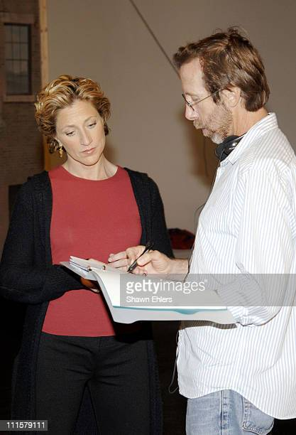 Edie Falco and director during Edie Falco Hosts the New PBS Series Independent Lens at Silvercup Studios in New York City New York United States