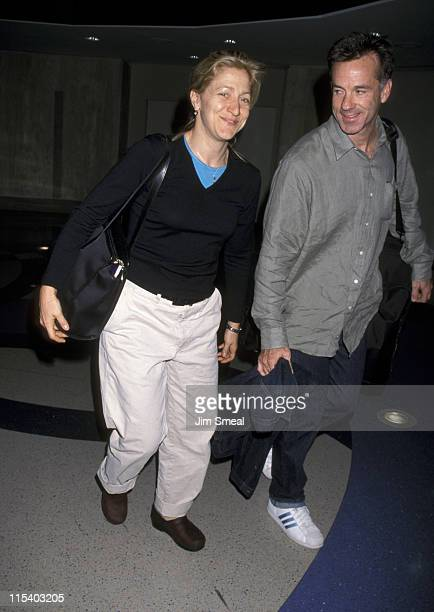 Edie Falco and Friend during Edie Falco and Friend at Los Angeles International Airport at Los Angeles International Airport in Los Angeles...