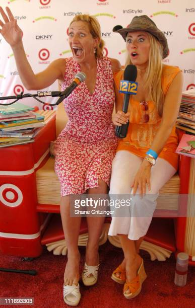 Edie Falco and Gina Glickman during Kelly Ripa Donna Karan and InStyle Magazine Host Super Saturday 9 To Benefit The Ovarian Cancer Research Fund at...