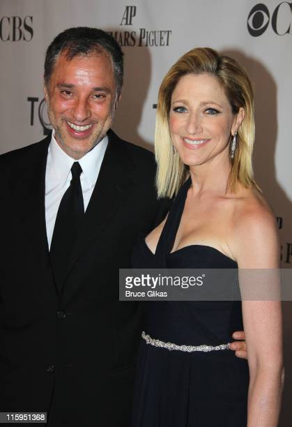 Edie Falco and guest attend the 65th Annual Tony Awards at the Beacon Theatre on June 12 2011 in New York City