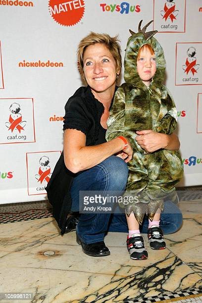Edie Falco and her daughter Macy attend The 9th Annual Dream Halloween at Capitale on October 24 2010 in New York City