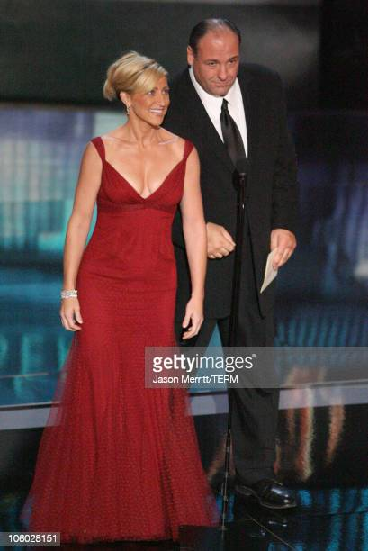 Edie Falco and James Gandolfini presenters Outstanding Miniseries