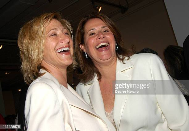 Edie Falco and Lorraine Bracco during Pure Visionary Arts Event with Lorraine Bracco and Edie Falco 'Honoring People in the arts who make a...
