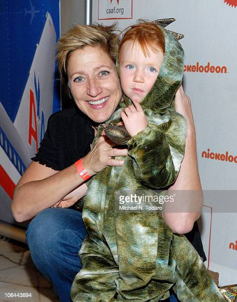 Edie Falco and Macy Falco attend 2010 Dream Halloween at Capitale on October 24 2010 in New York City