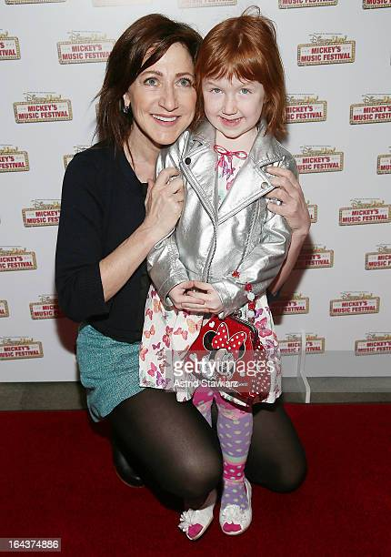 Edie Falco and Macy Falco attend the Disney Live Mickey's Music festival at Madison Square Garden on March 23 2013 in New York City