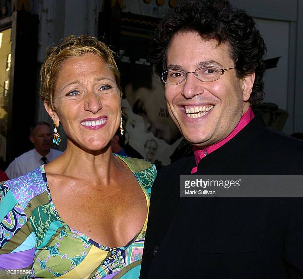 """Edie Falco and Michael Mayer, director during Outfest 2004 Festival - Closing Night and Los Angeles Premiere of """"A Home at the End of the World"""" -..."""