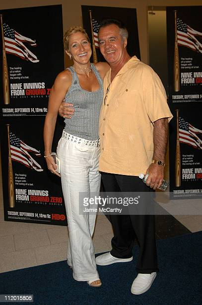 Edie Falco and Tony Sirico during The Screening of HBO Sports' Nine Innings From Ground Zero at The American Museum of Natural History in New York...