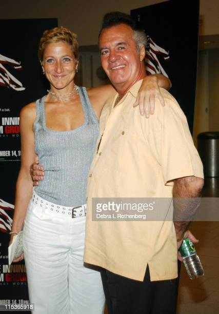Edie Falco and Tony Sirico during The Screening of HBO Sports' Nine Innings From Ground Zero at Museum Of Natural History in New York City New York...