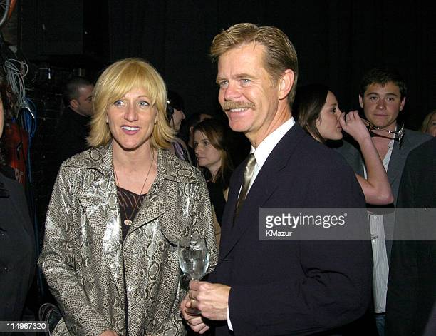 Edie Falco and William H Macy during 2nd Annual Audi and Conde Nast Never Follow Campaign Honoring the Careers of Four Innovators at The Manhattan...