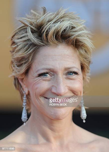 Edie Falco arrives at the 16th annual Screen Actors Guild Awards at the Shrine Exposition Center in Los Angeles January 23, 2010. Falco is nominated...