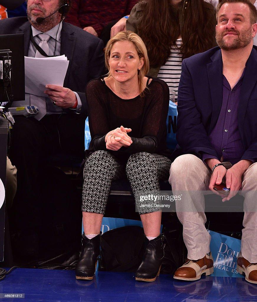 Celebrities Attend Milwaukee Bucks Vs New York Knicks Game - April 10, 2015 : News Photo