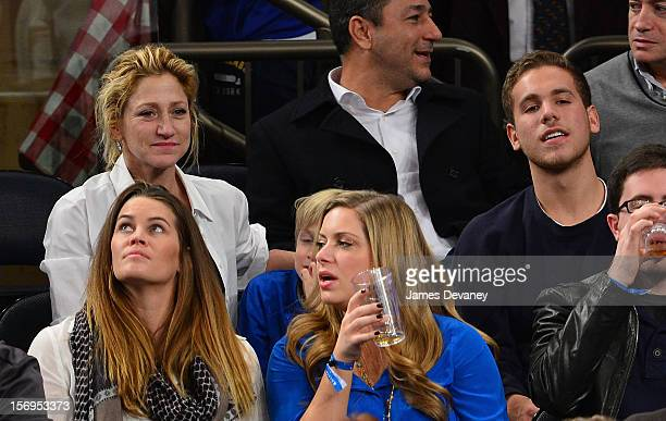 Edie Falco attends the Detroit Pistons vs New York Knicks game at Madison Square Garden on November 25 2012 in New York City