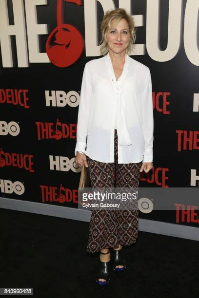 Edie Falco attends The Deuce New York Premiere Arrivals at SVA Theater on September 7 2017 in New York City
