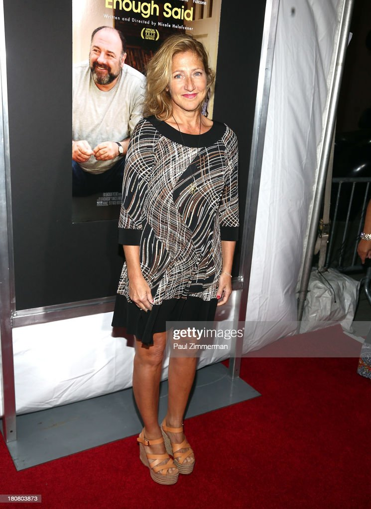 Edie Falco attends the 'Enough Said' New York Screening at Paris Theater on September 16, 2013 in New York City.