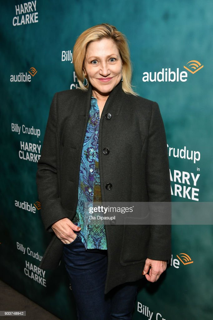 Edie Falco attends the 'Harry Clarke' Opening Night at the Minetta Lane Theatre on March 18, 2018 in New York City.