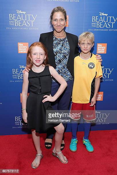 Edie Falco attends the special screening of Disney's Beauty and the Beast to celebrate the 25th Anniversary Edition release on BluRay and DVD on...