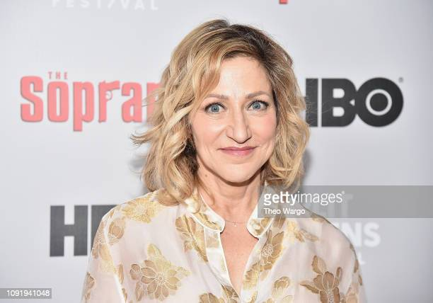Edie Falco attends the The Sopranos 20th Anniversary Panel Discussion at SVA Theater on January 09 2019 in New York City