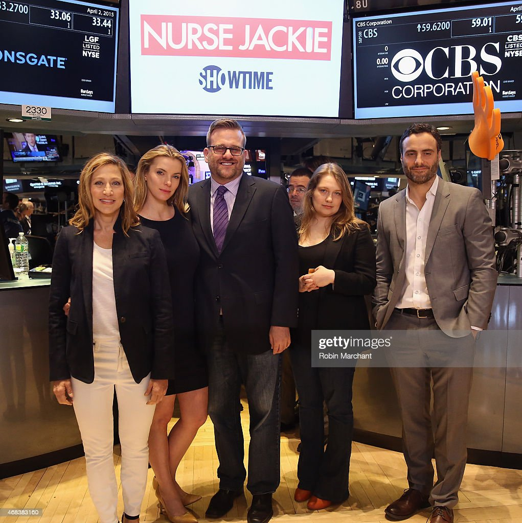 "The Cast Of ""Nurse Jackie"" Ring The NYSE Opening Bell"