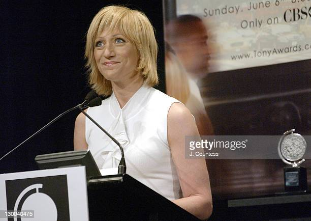 Edie Falco during 58th Annual Tony Awards Nominee Announcements at Hudson Theater in New York City New York United States