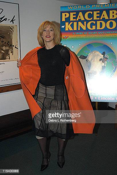 """Edie Falco during Award Winning Filmmakers Present World Premiere Of New Documentary """"Peaceable Kingdom"""" at Alice Tully Hall At Lincoln Center in New..."""