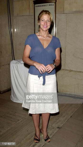 Edie Falco during Friends of the High Line Party to Celebrate Designing the High Line at Vanderbilt Hall Grand Central Terminal in New York City New...