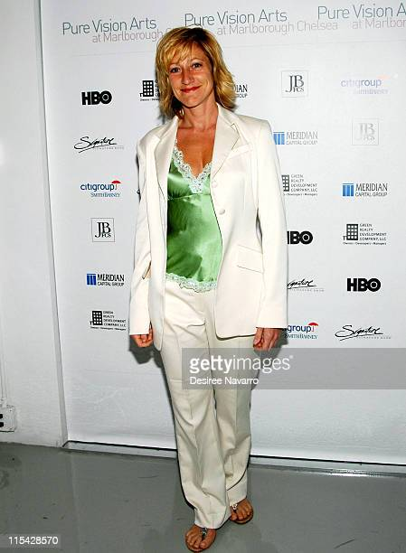 Edie Falco during Pure Visionary Arts Event with Lorraine Bracco and Edie Falco 'Honoring People in the arts who make a difference' at Marlbrough...