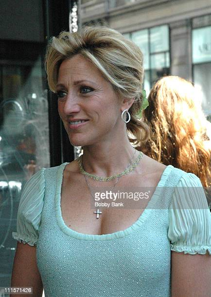 Edie Falco during The Sopranos On Location August 8 2006 at Loews 19th Street East in New York City New York United States