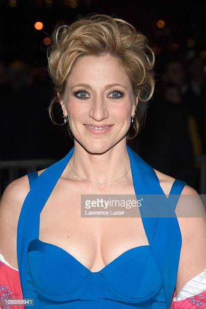 Edie Falco during The Sopranos Sixth Season New York City Premiere Outside Arrivals at Museum of Modern Art in New York City New York United States