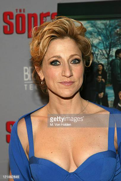 Edie Falco during 'The Sopranos' Sixth Season World Premiere at Museum of Modern Art in New York New York United States