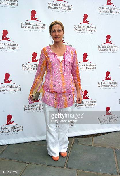 """Edie Falco during Tony Sirico and """"The Sopranos"""" Celebrate St. Jude Children's Research Hospital - July 30, 2005 at Private Residence in Upper..."""