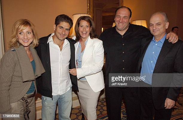 Edie Falco Michael Imperioli Lorraine Bracco James Gandolfini and David Chase