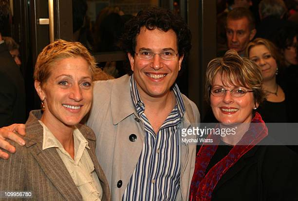 Edie falco Michael Mayer and Brenda Blethyn during Opening Night Of Reckless Arrivals at The Biltmore Theater in New York City New York United States