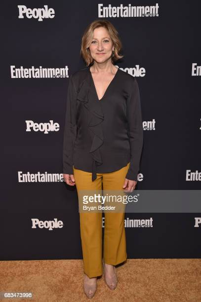 Edie Falco of Law Order True Crime Menedez Murders attends the Entertainment Weekly and PEOPLE Upfronts party presented by Netflix and Terra Chips at...