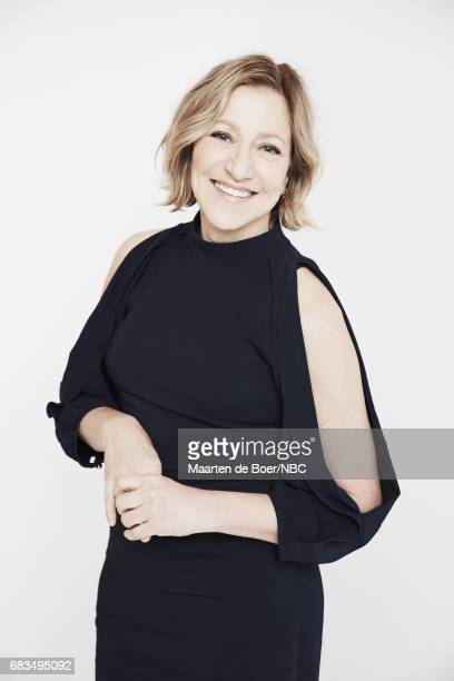 Edie Falco of Law Order True Crime The Menendez Murders poses for a photo during NBCUniversal Upfront Events Season 2017 Portraits Session at Ritz...