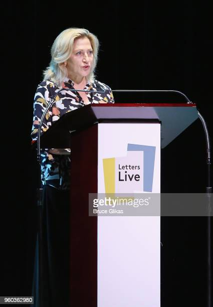 Edie Falco performs in the New York debut of the hit show 'Letters Live' at Town Hall on May 19 2018 in New York City