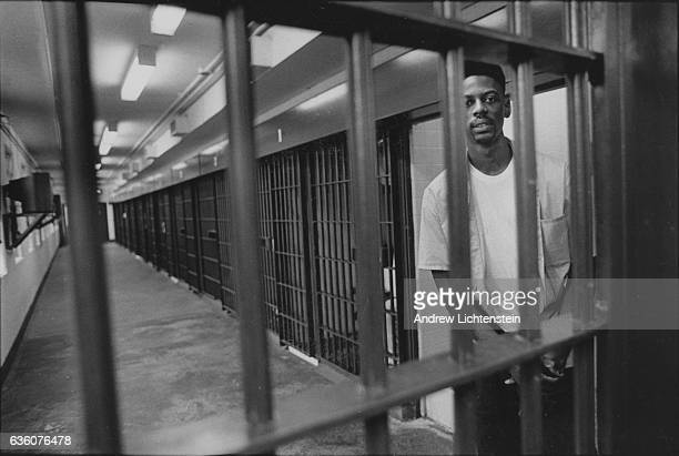 Edie Mitchell a covict on Louisiana's death row on the death row cell block of Angola Louisiana's state prison on a former slave plantation on the...