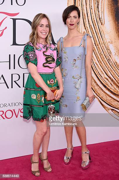 Edie Parker and Rebecca Hall attend the 2016 CFDA Fashion Awards at the Hammerstein Ballroom on June 6, 2016 in New York City.