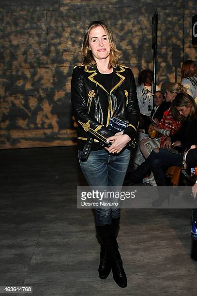 Edie Parker founder Brett Heyman attends the Libertine fashion show during MercedesBenz Fashion Week Fall 2015 at The Pavilion at Lincoln Center on...
