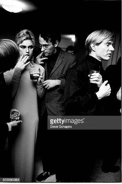 Edie Sedgwick and Andy Warhol at Party