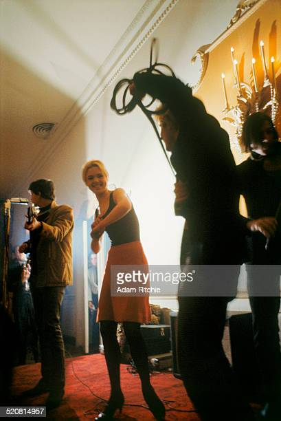 Edie Sedgwick and Gerard Malanga dance while the Velvet Underground perform at the New York Society for Clinical Psychiatry annual dinner The...