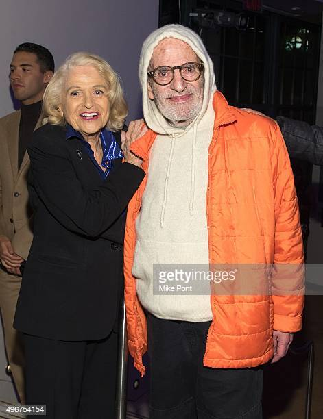 Edie Windsor and Larry Kramer attend the 2015 OUT 100 Celebration at Guastavino's on November 11 2015 in New York City