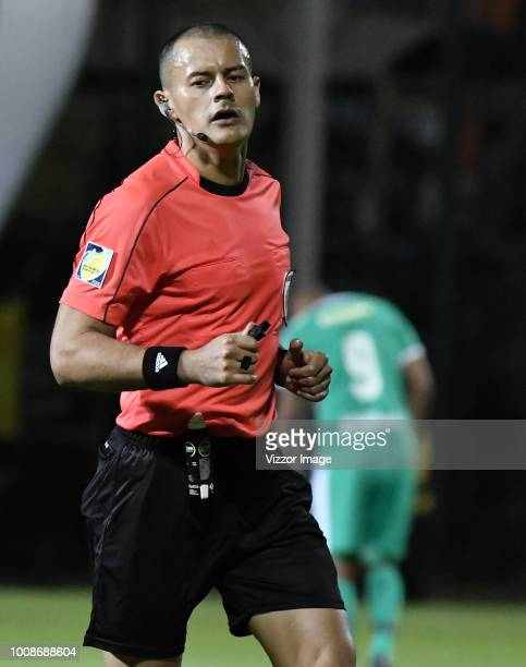 Edilson Ariza referee during match of the Aguila League II 2018 played at Metropolitano de Techo Stadium on July 27 2018 in Bogota Colombia