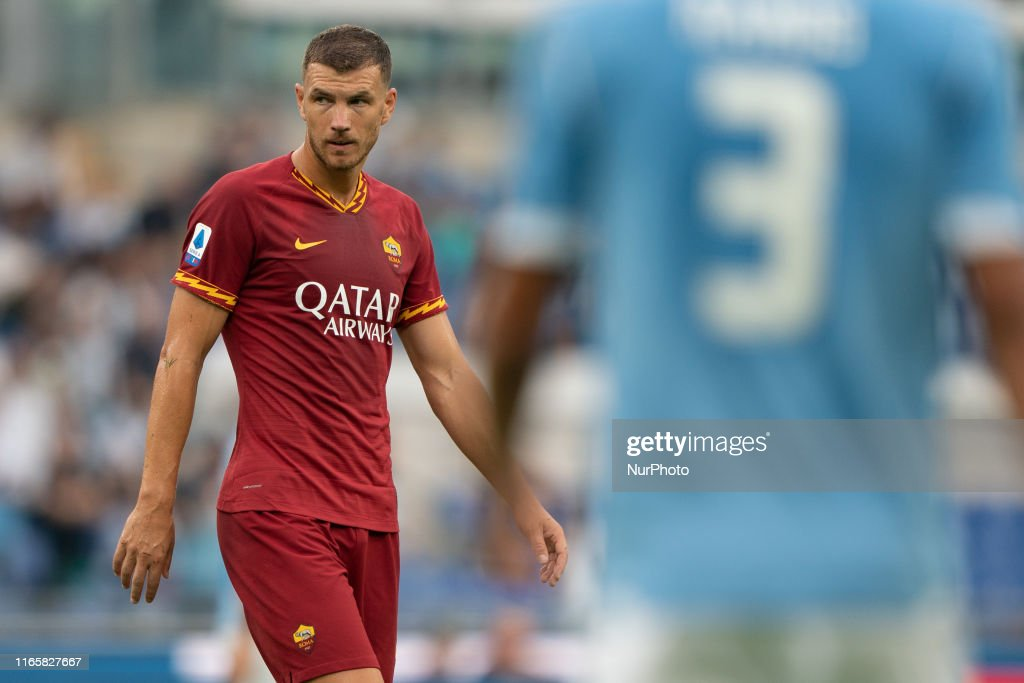 Edin Dzeko of AS Roma during the Italian Serie A 2019/2020