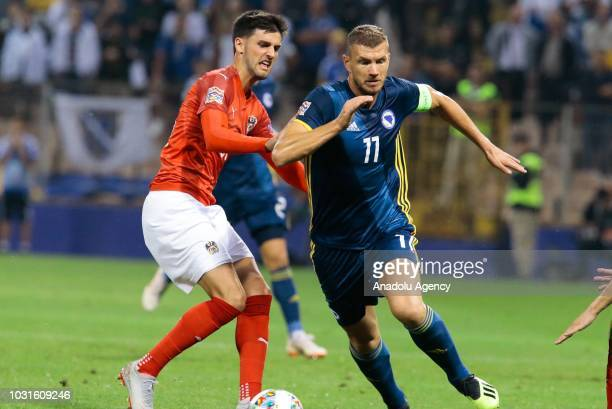 Edin Dzeko of Bosnia and Herzegovina in action during the UEFA Nations League League B third group football match between Bosnia and Herzegovina and...