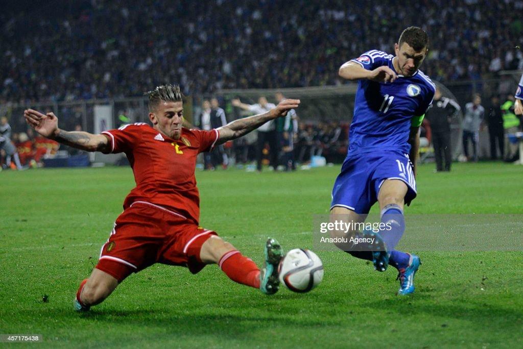 Bosnia v Belgium - UEFA Euro 2016 qualifying : News Photo