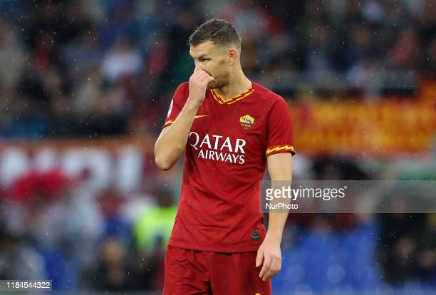 Edin Dzeko of Roma during the Serie A match AS Roma v Brescia Fc at the Olimpico Stadium in Rome Italy on November 24 2019